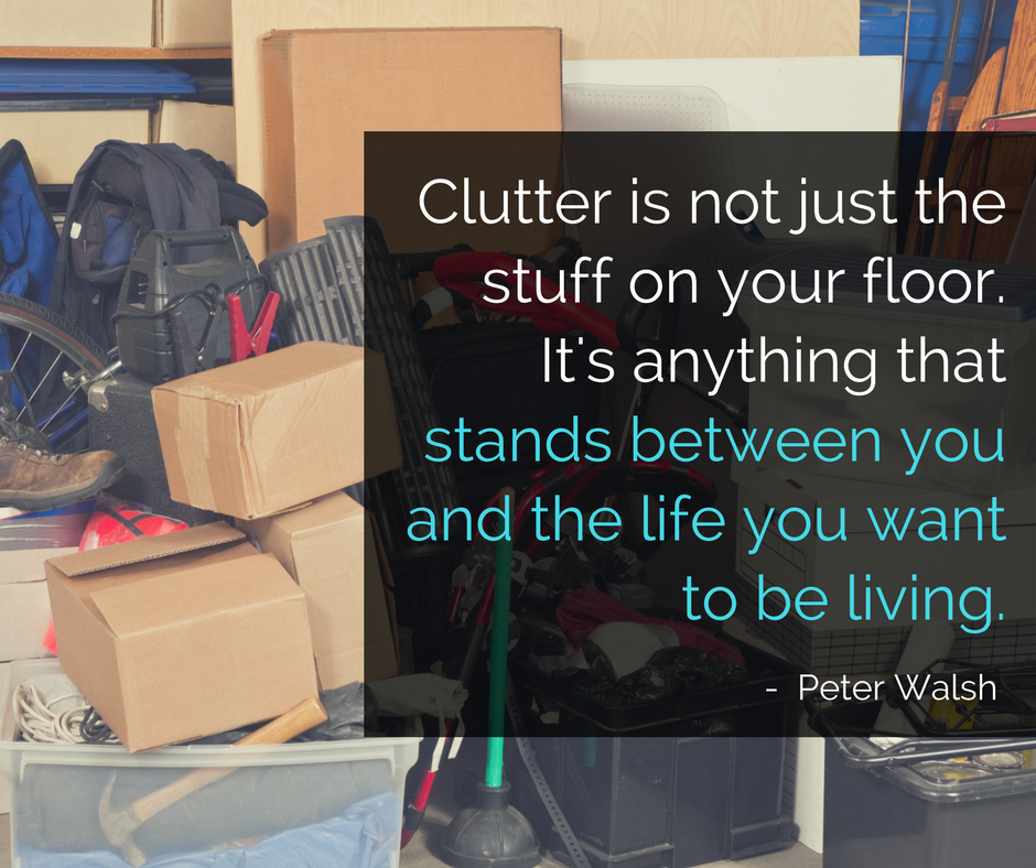 Declutter from the outside in